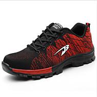 رجالي الربيع / الخريف الأماكن المفتوحة المكتب & الوظيفة أحذية رياضية تيساج فولانت متنفس مضاد للماء ارتداء إثبات أسود / أحمر / أزرق