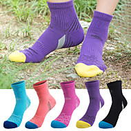 cheap -Women's Hiking Socks Running Socks Crew Socks 5 Pairs Breathable Moisture Wicking Anti Blister Soft Socks Letter & Number Cotton Autumn / Fall Spring Summer for Camping / Hiking Fishing Climbing