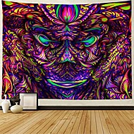 cheap -psychedelic tapestry abstract arabesque mysterious tapestries fantasy vision monster tapestries wall hanging for meditation bedroom living room decor