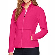 cheap -Women's Hiking Jacket Hiking Fleece Jacket Winter Outdoor Solid Color Thermal / Warm Windproof Breathable Warm Jacket Winter Fleece Jacket Top Fleece Single Slider Camping / Hiking Hunting Ski