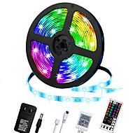 billige -led stripelys 5m rgb farge skiftende belysning stripe tape lys 300 led 2835 stripe tau lys med 44 nøkler fjernkontroll dimbar stemningsbelysning til hjemmet TV kjøkken dekorasjon