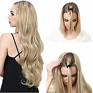 "clip in half wig blonde u part synthetic hair extensions long loose boby wave thick full head hairpiece hair piece for women none lace front cosplay wigs kanekalon fiber 28"" uw09&22/613"