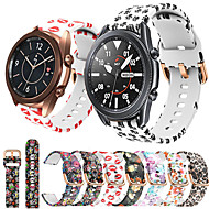cheap -Silicone Watch Band for Samsung Galaxy Watch 3 41mm 45mm / Galaxy Watch 46mm 42mm / Active 2 40mm 44mm / S3 Classic Frontier / Gear Sport / S2 Classic Replaceable Bracelet Wrist Strap Wristband