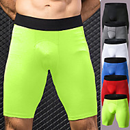 cheap -YUERLIAN Men's Compression Shorts Athletic Underwear Bottoms Patchwork Spandex Fitness Gym Workout Performance Running Training Breathable Quick Dry Moisture Wicking Sport White Black Red Blue Green