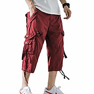 cargo shorts mens 3/4 relaxed fit below knee capri wine red cargo short size 32