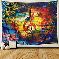 cheap -colorful music tapestry ethnic musical note tapestry wall hanging psychedelic bohemian mandala wall tapestry decor bedroom living room dorm