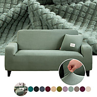 abordables -housse de canapé housse de canapé extensible housse de protection de meubles couleur unie housse souple antidérapante adaptée pour fauteuil / causeuse / trois places / quatre places / canapé en forme