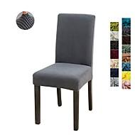 abordables -1 pièce housses de chaise de salle à manger lavables amovibles extensibles de couleur unie, housse de siège de protecteur de chaise de salle à manger pour hôtel, banquet, mariage, fête