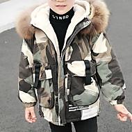 Dzieci Dla chłopców Aktywny Nadruk Regularny Odzież puchowa / pikowana Zielony