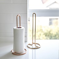 kadike, metalni okomiti držač za papirne role, stalak za ručnike vertica bez perforacije, stol za jelo i kuhinju okomiti držač za papirnate ručnike zlatno ružičasto zlato