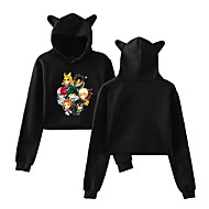 Inspired by Hunter X Hunter Killua Zoldyck Crop Top Hoodie Polyester / Cotton Blend Print Printing Crop Top For Men's / Women's