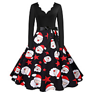 Santa Claus Christmas Dress Women's Adults' Leisure Christmas Christmas Polyester Dress