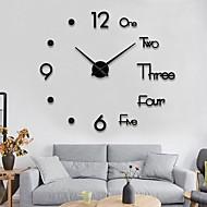 abordables -horloge murale mode bricolage plastique métal acrylique acier inoxydable rond intérieur / extérieur (100cm x 100cm)