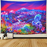cheap -trippy mountain tapestry psychedelic mushrooms tapestry fantasy tortoise abstract art colorful mountain wall hanging tapestry for bedroom dorm h59.1× w78.7 inches