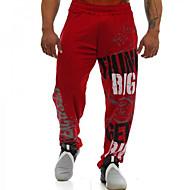 tanie -Męskie Aktywny Spodnie dresowe Spodnie Solidne kolory Ściągana na sznurek Czarny Czerwony M L XL