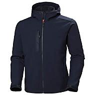 men's workwear kensington hooded softshell jacket, navy - m