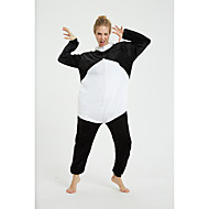 Adults' Kigurumi Pajamas Panda Onesie Pajamas Flannel Fabric Black / White Cosplay For Men and Women Animal Sleepwear Cartoon Festival / Holiday Costumes
