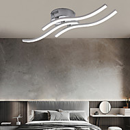 economico -plafoniera a tre onde semplice illuminazione moderna camera da letto illuminazione a soffitto a led creativa 18w