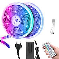 abordables -KWB 10m Tiras LED Flexibles 600 LED 5050 SMD 10mm 2 Piezas RGB Impermeable Control remoto Cortable / IP65 / Regulable / Conectable / Adecuadas para Vehículos / Color variable