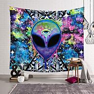 economico -trippy alien di brizbazaar arazzo hippie parete tappeto camera trippy arazzo appeso a parete acquerello stregoneria tapiz