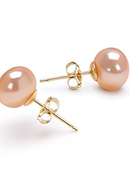 cheap -Women's Pink Pearl Stud Earrings Drop Earrings Birthstones Gold Earrings Jewelry For 1pc