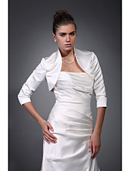 cheap -Coats / Jackets Satin Wedding / Party Evening Wedding  Wraps / Bolero With Draping / Solid