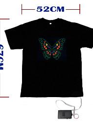 Недорогие -звук и музыка активированный-эль-танцор визуализатор вю спектра футболка - м (2 * AAA)