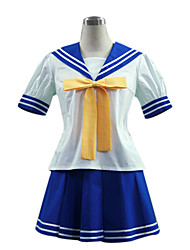 cheap -Inspired by LuckyStar Izumi Konata Anime Cosplay Costumes Japanese Cosplay Suits School Uniforms Patchwork Short Sleeve Top Skirt Tie For Women's