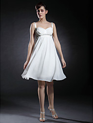 cheap -Ball Gown Sweetheart Neckline / Straps Knee Length Chiffon / Stretch Satin Dress with Ruched by TS Couture®