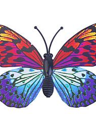 abordables -Glow-in-dark butterfly 6pcs maison mur 3d papillon autocollants avec broche&rideaux aimant de décoration