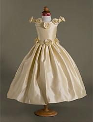 cheap -Ball Gown Off-the-shoulder Floor-length Taffeta Flower Girl Dress