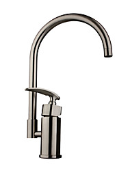 cheap -Deck Mounted Single Handle One Hole with Nickel Brushed Kitchen faucet