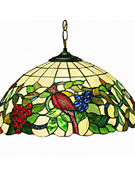 cheap -Grapes and Birds 2-light Tiffany Pendant Light 220V