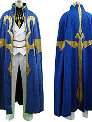 cheap -Inspired by Code Gease Suzaku Kururugi Anime Cosplay Costumes Japanese Cosplay Suits Patchwork Long Sleeve Coat / Pants / Cloak For Men's