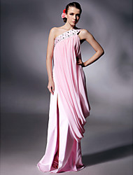 cheap -Prom / Military Ball / Formal Evening Dress - Blushing Pink Plus Sizes / Petite Sheath/Column One Shoulder Floor-lengthChiffon /