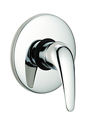 cheap -Bathtub Faucet - Contemporary Chrome Wall Mounted Ceramic Valve Bath Shower Mixer Taps / Brass / Single Handle One Hole