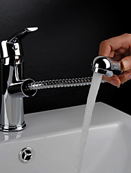 cheap -Bathroom Sink Faucet - Pullout Spray Chrome Centerset Single Handle One Hole