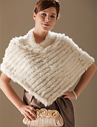 cheap -Ponchos Feather / Fur Party Evening / Office & Career Fur Wraps With