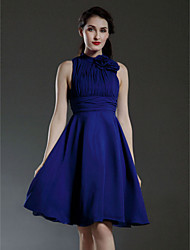 cheap -Clearance!A-line High Neck Knee-length Chiffon Bridesmaid/ Wedding Party Dress