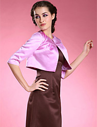 cheap -Satin Wedding / Party Evening Wedding  Wraps With Ruched Coats / Jackets