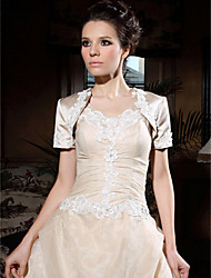 cheap -Half Sleeve Polyester Party / Evening Wedding  Wraps / Women's Wrap With Embroidery Shrugs / Coats / Jackets
