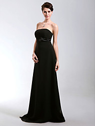 cheap -Chiffon Sheath/ Column Strapless Floor-length Evening Dress inspired by Cannes Film Festival