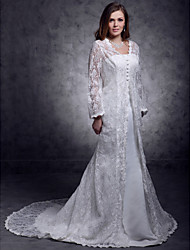 cheap -Strapless Trumpet / Mermaid Wedding Dresses with Lace Jacket