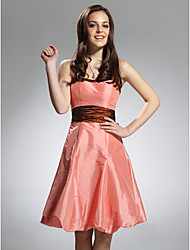 cheap -A-line Spaghetti Straps Knee-Length Taffeta Bridesmaid/Wedding Party Dress