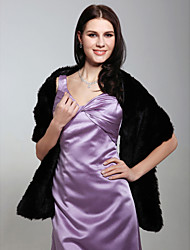 cheap -Sleeveless Shawls Faux Fur Wedding / Party Evening Wedding  Wraps / Fur Wraps With