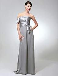 cheap -Sheath/Column Strapless Floor-length Chiffon Charmeuse Bridesmaid Dress