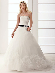 cheap -A-line Sweetheart Chapel Train Wedding Dress
