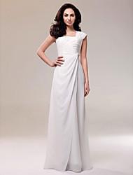 cheap -Formal Evening/Military Ball Dress - Ivory Plus Sizes Sheath/Column Square Floor-length Chiffon