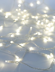 cheap -10m String Lights 100 LEDs Dip Led White Party / Decorative / Linkable 100-240 V 1pc