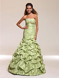 cheap -Trumpet/ Mermaid Strapless Floor-length Beaded Satin Taffeta Prom/ Evening Dress